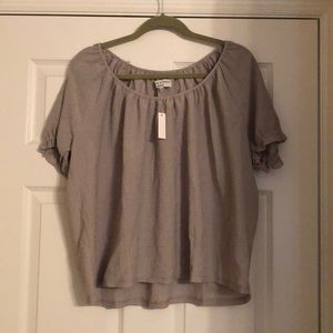 NWT madewell Sage green blouse size extra large